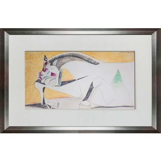 Pablo Picasso Guernica Horse Framed Lithograph