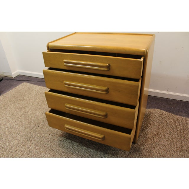 Mid Century Modern Drop-Front Wheat Chest/Dresser - Image 8 of 9