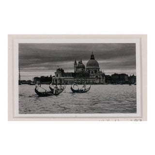 """Santa Maria Della Salute"" Framed B&W Photo C1987"