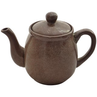 Mid-Century Brown Studio Pottery Tea Pot