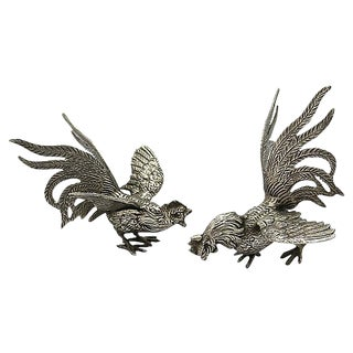 French Silver-Plate Table Ornaments - A Pair