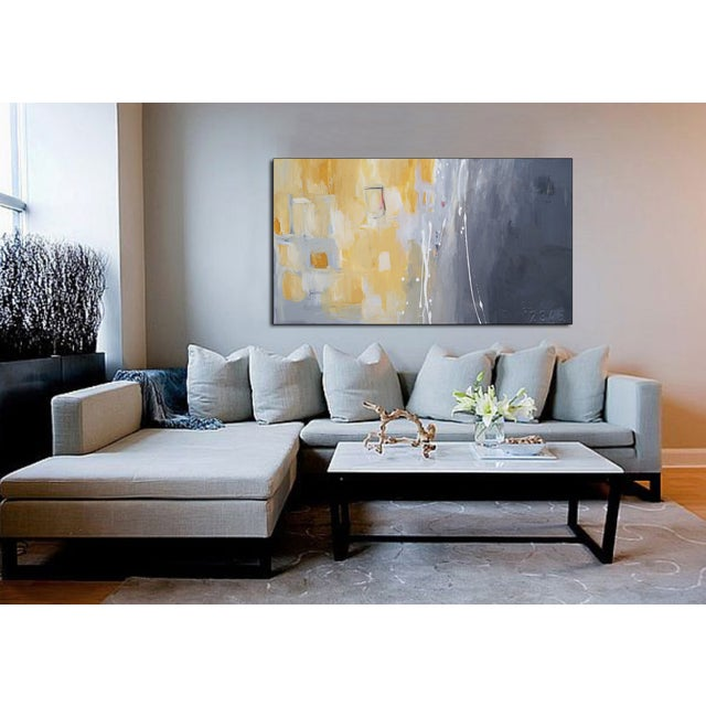 Image of 50 Shades of Gray & Yellow Giclee Canvas Print