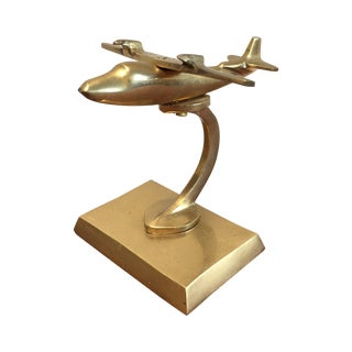 Vintage Brass Airplane