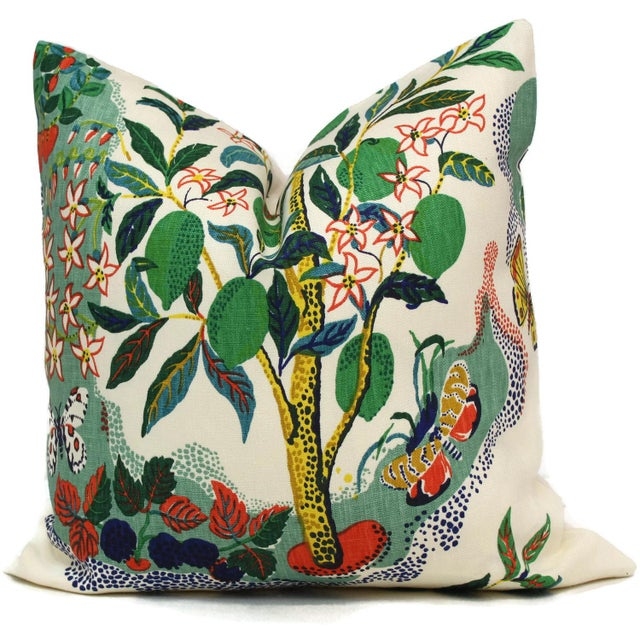"20"" x 20"" Citrus Garden With Lemon Tree Decorative Pillow Cover - Image 2 of 2"