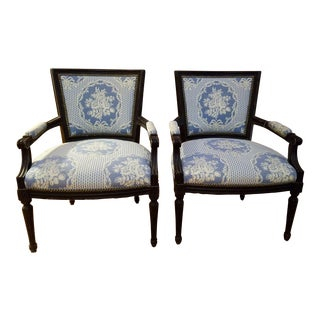 Country French Provincial Armchairs - A Pair