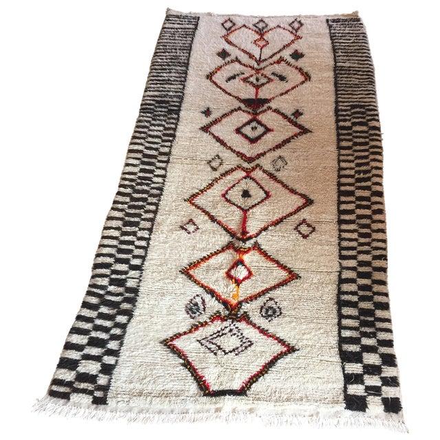 Azilal Moroccan Wool Rug - 4' X 8'5''