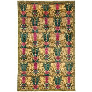 "Suzani Hand Knotted Area Rug - 4' 3"" X 6' 7"""