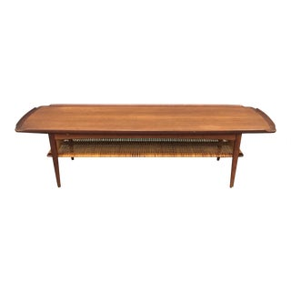 Danish Modern Caned Coffee Table by Selig