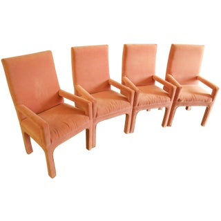 Parsons Dining Chairs in Desert Rose Velvet - Set of 4