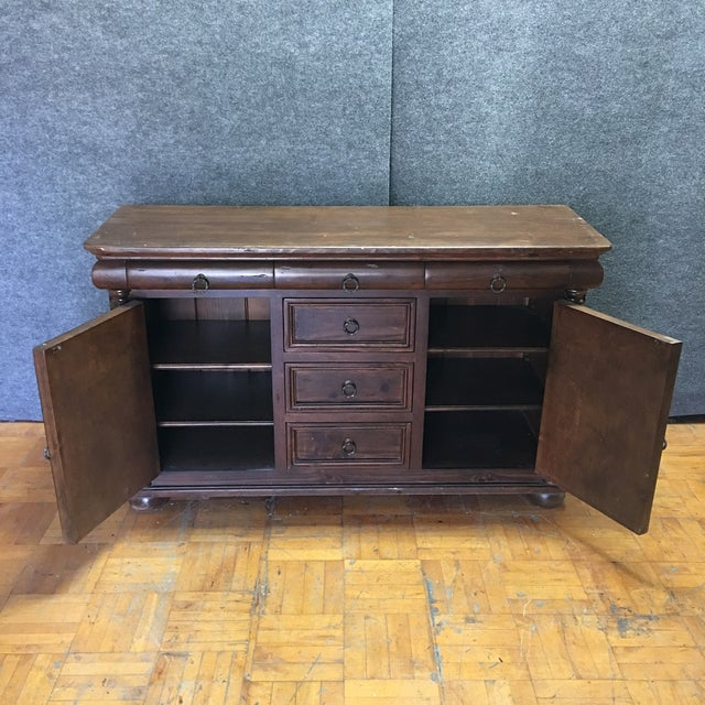 Brown Wooden Six Drawer Credenza - Image 7 of 7