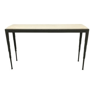 Esprit Steel & Limestone Console Table