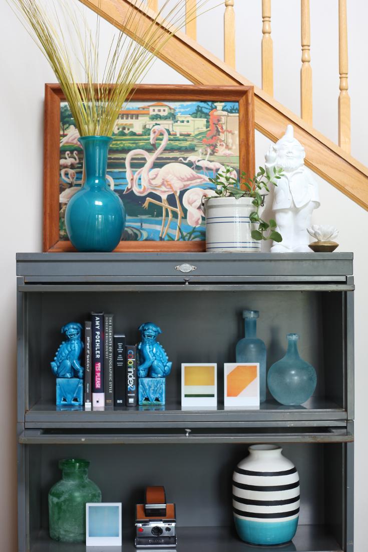Steel Barrister Bookcase: Metal 3-Shelf Barrister Bookcase Cabinet