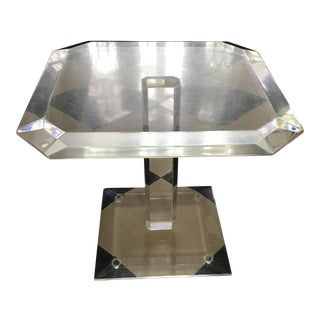 Vintage Lucite Acrylic Hexagon Side Accent Table