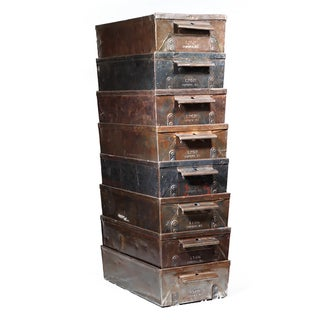 Early 20th C. Steel Drawers - Set of 4