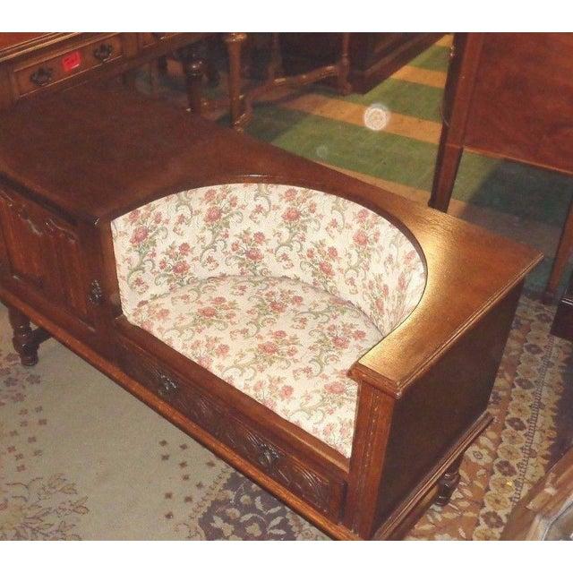Edwardian Mid-Century Telephone Sofa Bench - Image 3 of 11