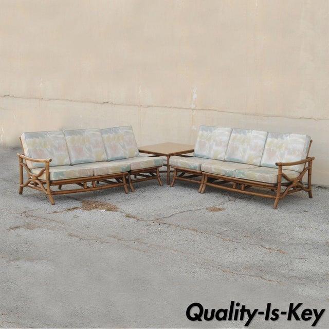 Mid Century Ficks Reed Rattan Tiki Sofa Set - Set of 5 - Image 11 of 11