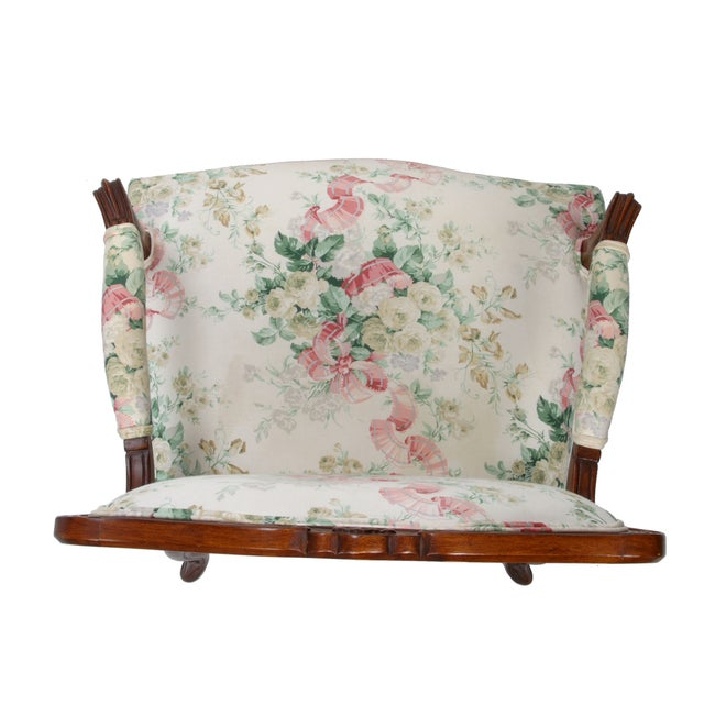 Hollywood Regency-Style Wood Arm Chair - Image 5 of 10