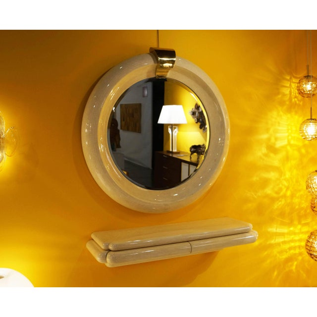 Vintage Tessellated Bone Mirror & Wall Mounted Console - Image 5 of 7