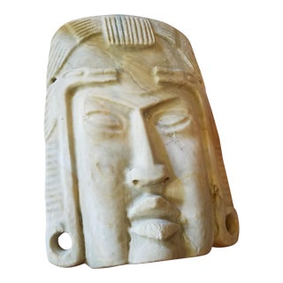 Peruvian Decorative Limestone Mask