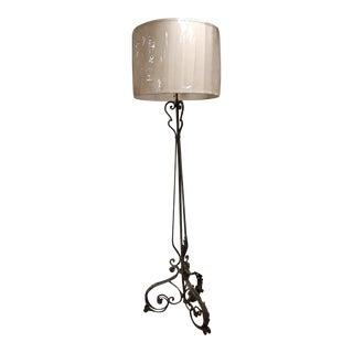 19th Century French Iron Floor Lamp