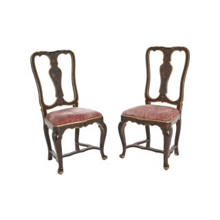 Venetian Velvet Chairs - A Pair
