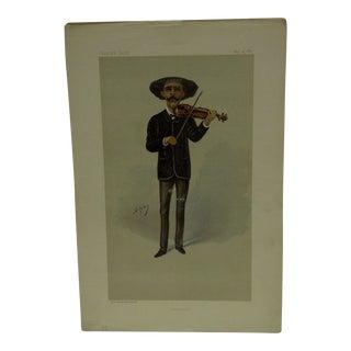 """Vintage 1889 """"Sarasate"""" Vanity Fair Print"""