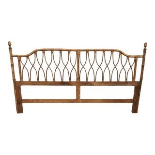 Faux Bamboo & Wicker King Size Headboard
