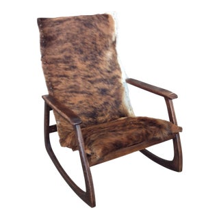 Natural Cowhide W/ Dark Nailheads Rocking Chair