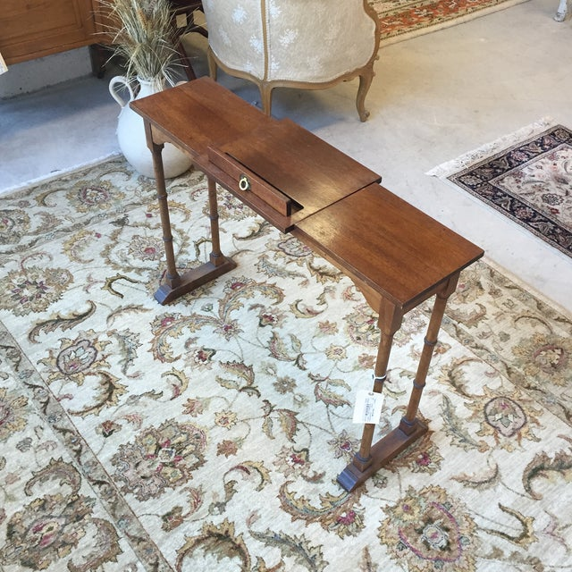 Image of Antique Mahogany Music Table