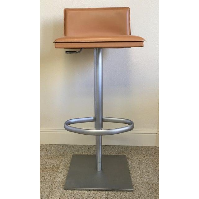 Italian Modern Leather Bar Stool Chairish