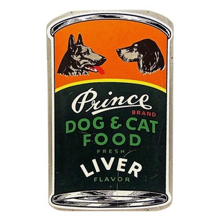 Prince Brand Dog & Cat Food Advertising Sign