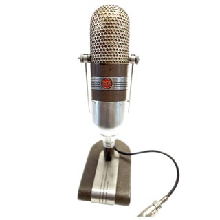 Coach Bear Bryant Iconic 1950s RCA Studio Mic. As Sculpture