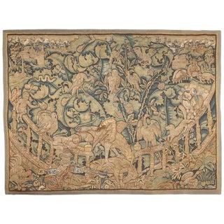 Antique 16th Century Feuilles De Choux Tapestry