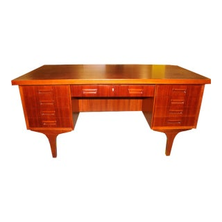 Danish Modern Mid-Century Desk in Teak by H.P. Hansen