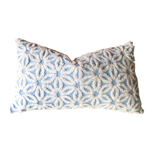 Shabby Chic Chenille Pillows : Vintage Chenille Floral Shabby Chic Pillow Cover Chairish