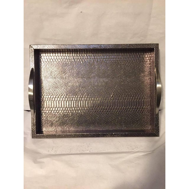Bronze Snakeskin Handled Tray - Image 2 of 7