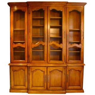 French Louis XV Style Oak Bibliotheque
