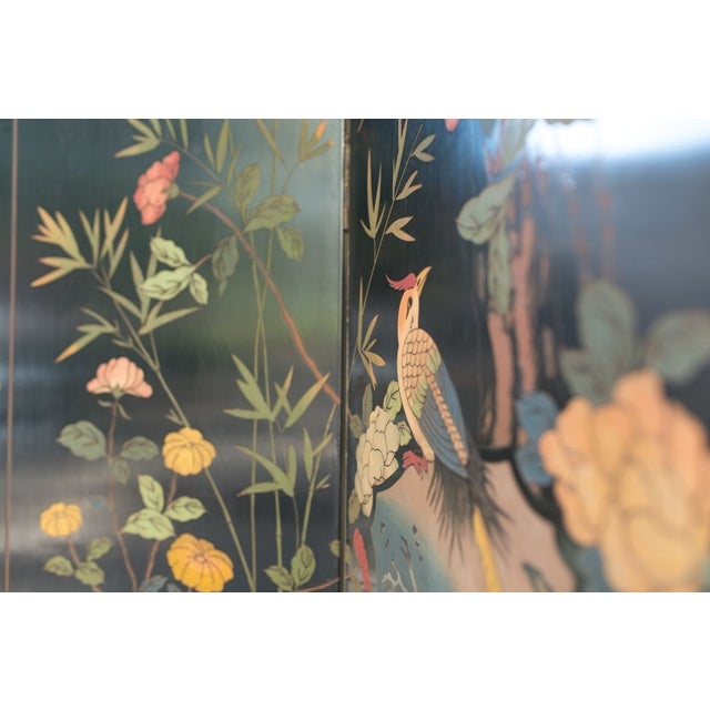 Large Lacquered Asian Screen - Image 3 of 8