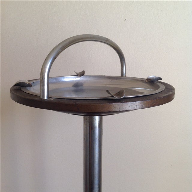 Image of Mid-Century Pedestal Ashtray Stand