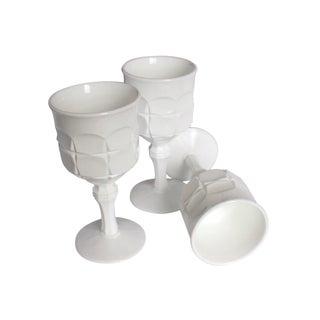 Vintage Milk White Goblets I - Set of 3