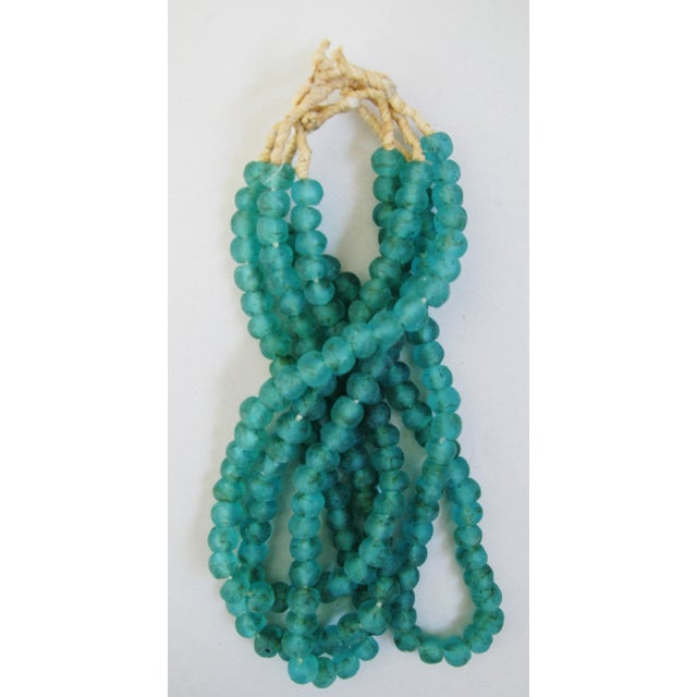 Image of Turquoise Glass Bead Strands - Set of 4