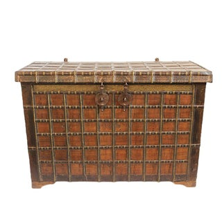 Antique Indian Dowry Trunk