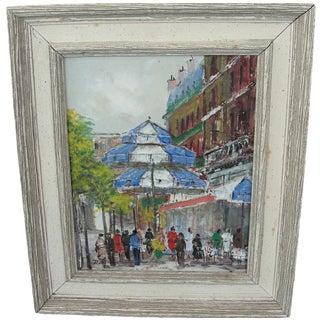 Street Bistro Painting by Josef Rettier
