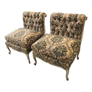 Louis XV Style Oversized Painted Chairs - A Pair
