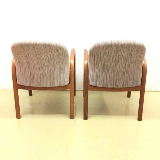 Mid-Century Gunlocke Walnut Chairs - A Pair - Image 4 of 11