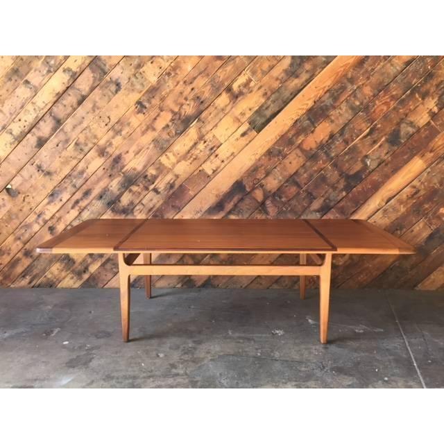 Mid-Century Danish Walnut Rosewood Coffee Table - Image 2 of 6