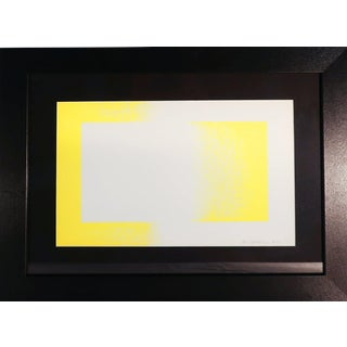 "Framed Richard Anuszkiewicz ""Yellow Reversed"" Lithograph"