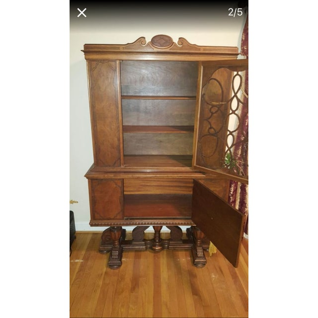 Jacobean Style Rockford Illinois Furniture China Cabinet