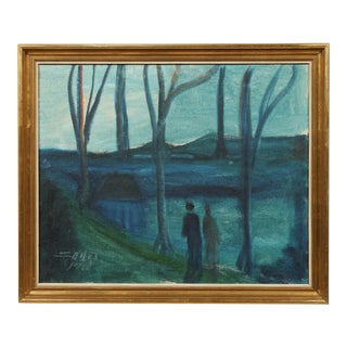 1966 Night Silence Oil Painting