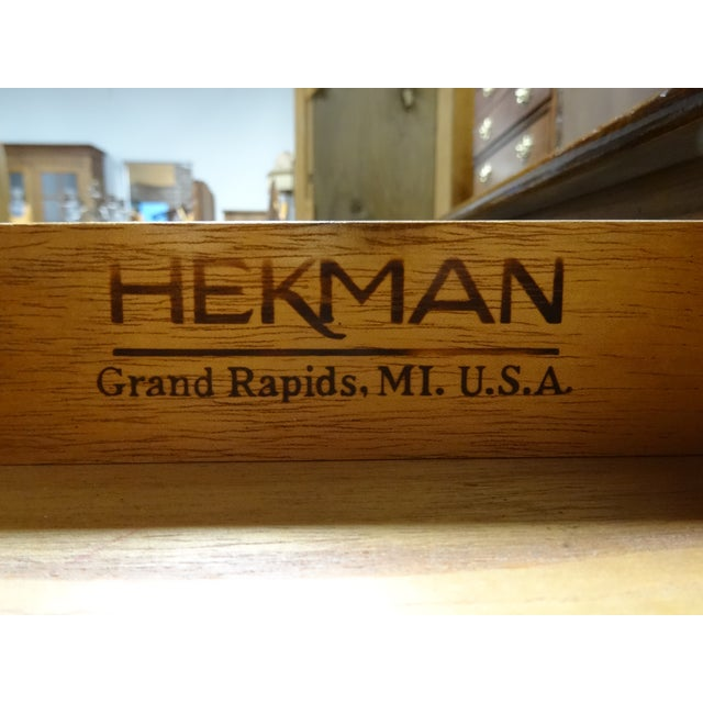 Hekman French Country Oak Writing Desk - Image 4 of 11